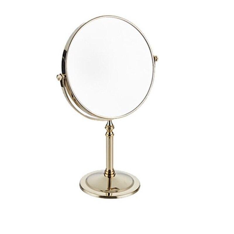 LIUYUE, зеркало для макияжа, медное, черное, стиль, 8 дюймов, зеркало для макияжа, профессиональное туалетное зеркало, 360 градусов, для ванной комнаты, Лупа - Цвет: gold