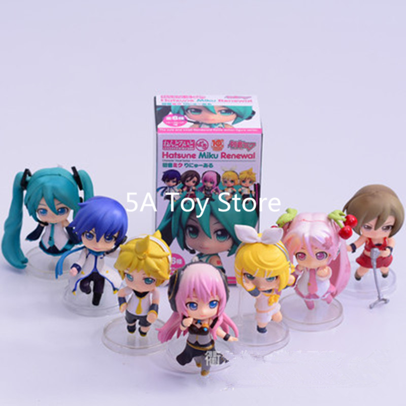 7pcs/set Hatsune Miku Painted <font><b>Figure</b></font> Luka <font><b>Kagamine</b></font> <font><b>Rin</b></font> Len PVC Action <font><b>Figure</b></font> Collectible Model Toys Doll Gift Brinquedos 7CM image
