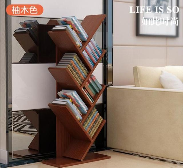 104cm Eco Friendly 7 Layers Creative Tree Style Bookcases Portable Shelves Bedroom Bookshelf