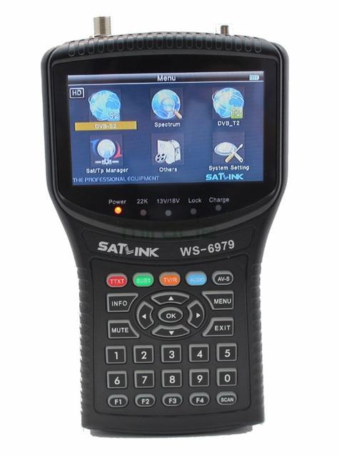 Satlink WS6979 DVB-S2 & DVB-T2 Combo 6979 digital satellite finder medidor Spectrum analyzer constellation cccam livre shippi