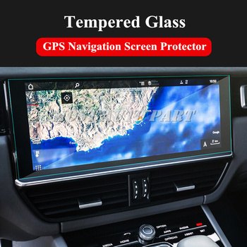 Tempered Glass GPS Navigation Screen Protector For Porsche Cayenne 2018 Car accesories interior Car decoration image