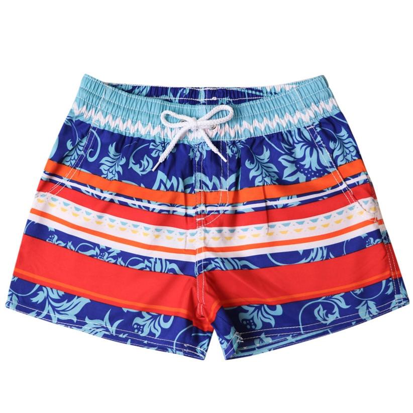 Newly Design Boho Style Women Striped Beach Board   Shorts   Beach Bathing Clothes Quick Dry Trunks Woman Apparel 90110