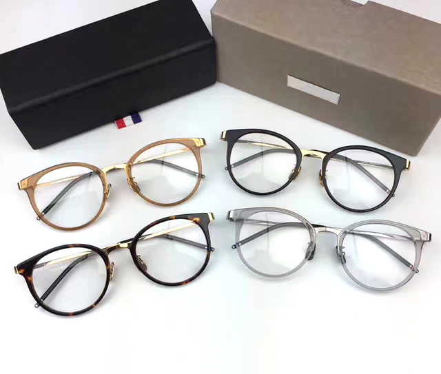 4782c43344e High quality optica glassesl Thom Brand eyeglasses vintage round eyegwear  frame men women TB911 prescription eye