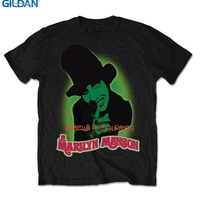 GILDAN T Shirts Short Gildan O Neck Short Sleeve Marilyn Manson Smells Like Children Rock Metal