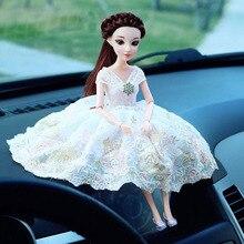 High-grade wedding car doll car decoration silicone mesh material Cinderella series girl creative car interior accessories