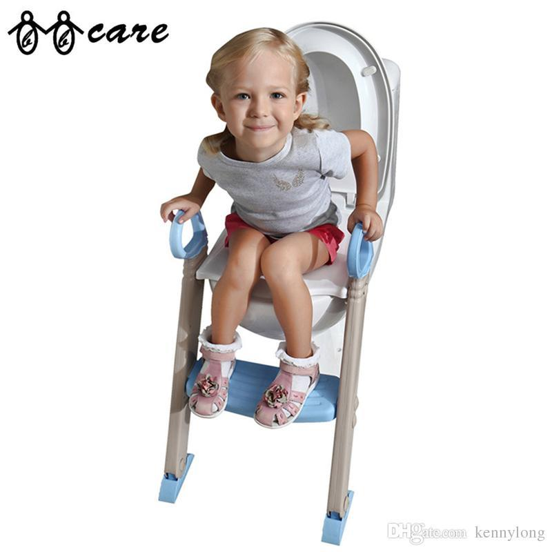 Potty Seat With Ladder Children Kids Baby Toilet Folding Infant Potty Chair Training Portable Toilet Seat Cover цена