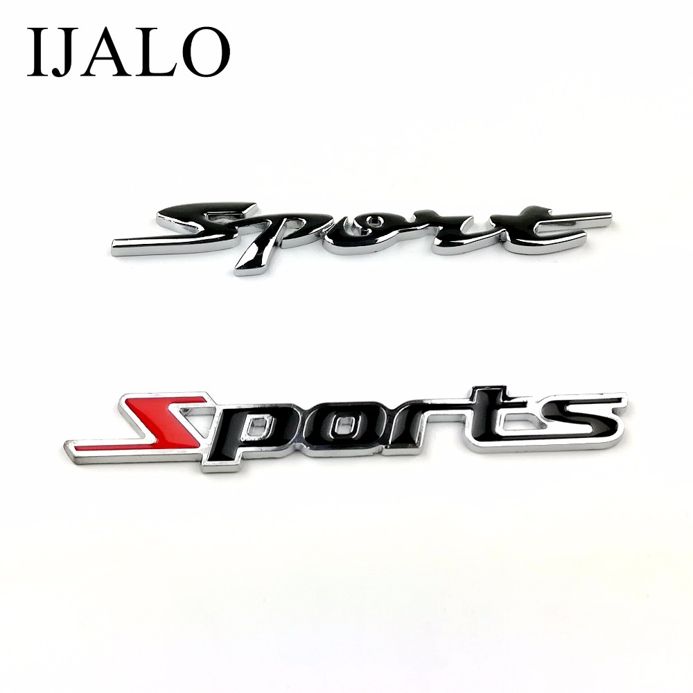 SPORT Super Chromed Quality Metal Car Emblem Badge Auto styling decoration badge with double side adhesive sticker auto chrome camaro letters for 1968 1969 camaro emblem badge sticker