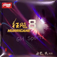 DHS Hurricane 8 Hurricane8 Pips In Table Tennis Rubber With Sponge PingPong Rubber