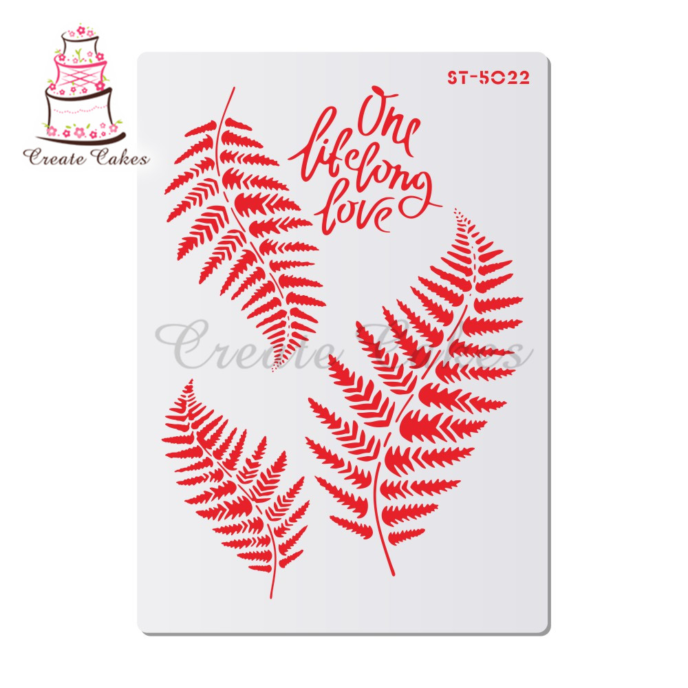 Fern Leave Stencils For Walls Painting Scrapbooking Stamp Album Decorative Embossing DIY Craft Paper Card Flower Template
