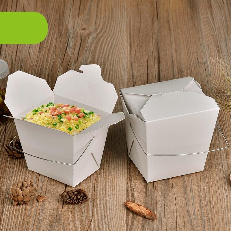 Desechable caja de almuerzo de papel Kraft con mango creativo para - Para fiestas y celebraciones - foto 3