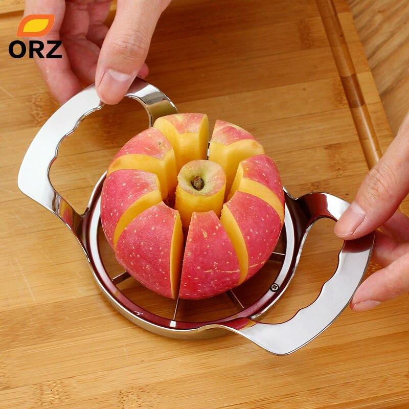 ORZ di Apple In Acciaio Taglierina Affettatrice di Verdure della Frutta Pera Peeler Divisore Corer Cubettatrici Utensili Da Cucina Gadget Strumenti di Apple Cutter Coltello