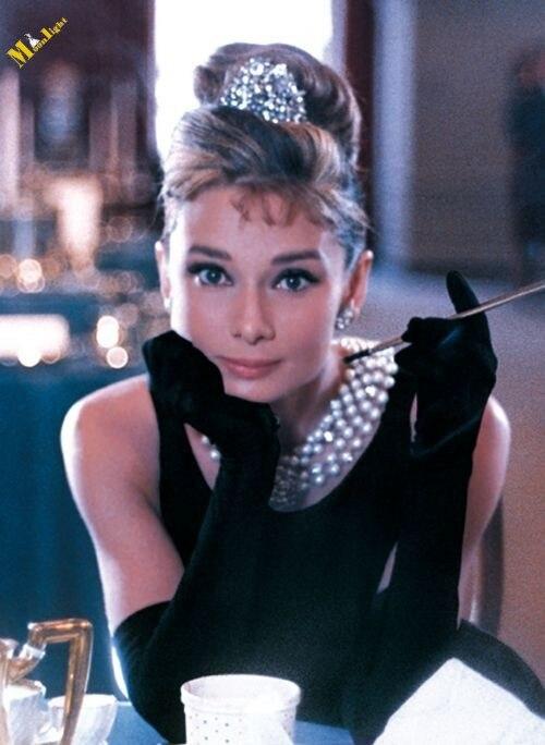YC 006 Inpsired by Audrey Hepburn Vintage 50s Long Black Pearls Neck Formal  Evening Dresses Elegant Celebrity Dresses-in Celebrity-Inspired Dresses  from ... 904d839b3b84