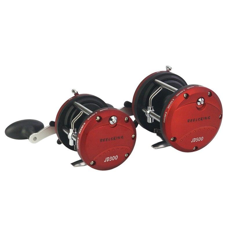 JD Series Ocean Fishing Vessel Reel Drum Wheel Metal Plastic Vessel Baitcasting Lure Reels