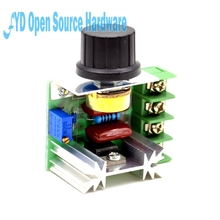 1pcs AC 220 V 2000 W SCR Voltage Regulator Dimming Dimmers Speed Thermostat Controller