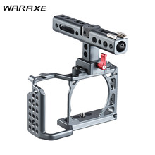 WARAXE Video Camera Cage Rig with Top Handle Stabilizer for Sony Camera to Mount Microphone Monitor Tripod Lighting Filmmaking(China)
