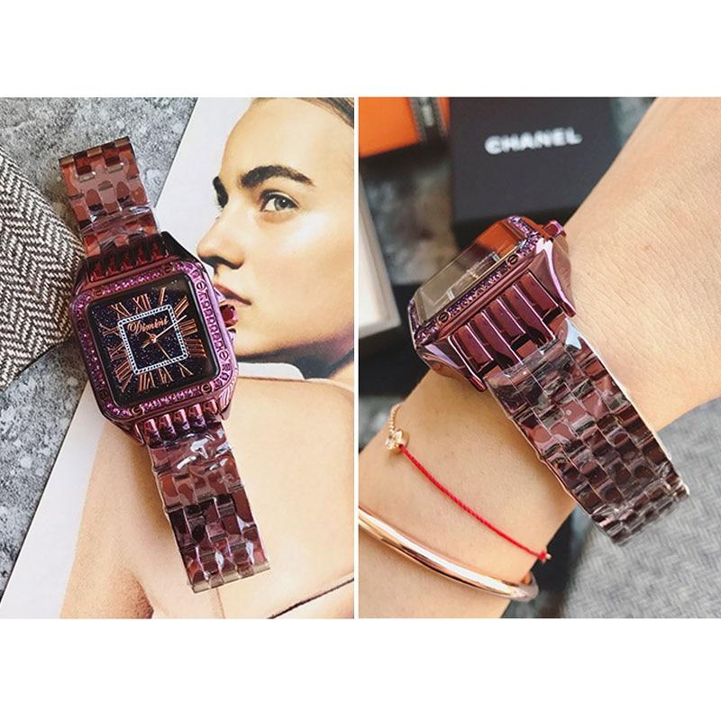 2018 женские наручные часы Стальные Новые женские часы классические роскошные Брендовые женские часы Relogio Feminino - 5
