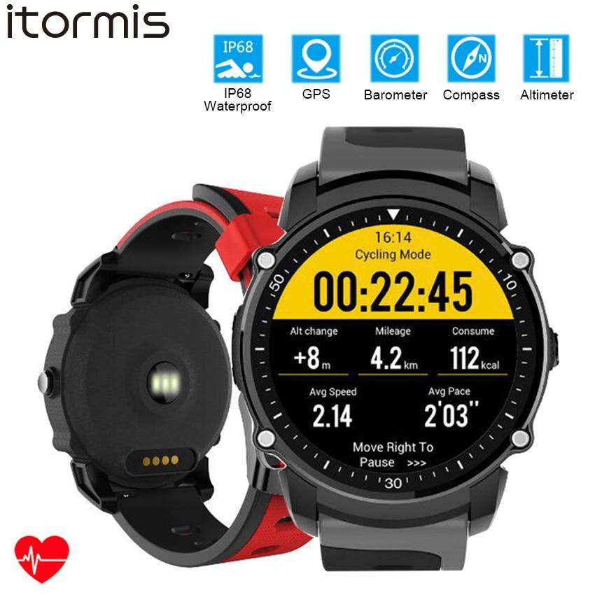 itormis Bluetooth GPS Smart Sport Fitness Watch Smartwatch Bracelet Fitness tracker Waterproof Heart rate Compass Altimeter FS08 smart baby watch q60s детские часы с gps голубые