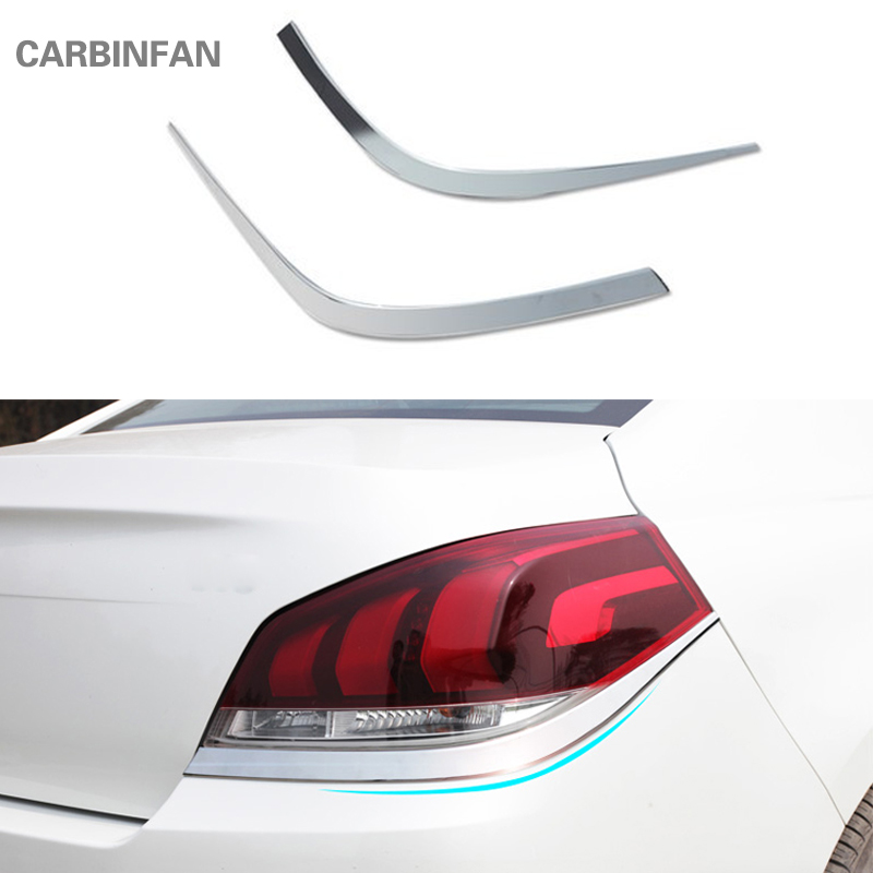 For Ford Focus 3 2012 2013 2014 Hatchback Chrome Rear Tail Light Lamp Cover Trim