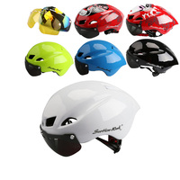 2017 Mtb Mountain Road Bike Bicycle Helmet 3 Lens Visor Glass Capacete Da Ciclismo Cascos Ciclismo