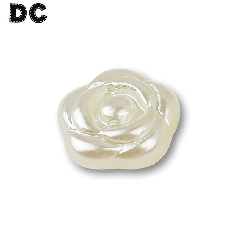 DC 100 шт./лот Имитация Жемчуга белого розы Flatback Бусины 12 мм украшение для Скрапбукинг или чехол для телефона Аксессуары