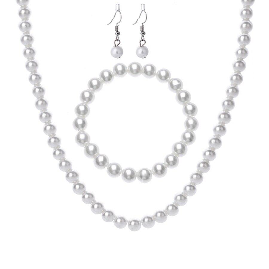 Hot Women/'s Natural Freshwater fake Necklace Bracelet Earrings Jewellery