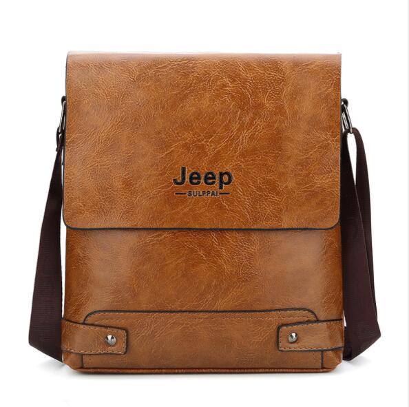 2019 New Jeep Men s Bag Business Bag Men s Shoulder Messenger Bag Jeep Leather Casual Innrech Market.com