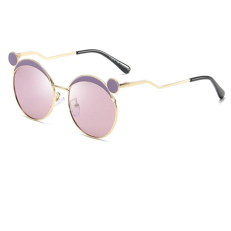 Fein Vintage Kinder Sonnenbrille Kind Sonnenbrille Runde Metallrahmen Gafas Für Außen Vintage Brillen Shades Für Junge Mädchen Oculos 19913wd