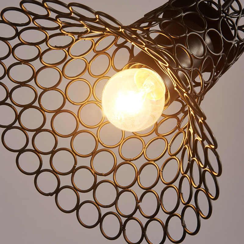 لوفت الصناعية خمر الحديد قلادة ضوء لشريط مطعم مقهى مصباح