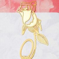 Corée Style Or Creative Clip En Métal Fleur Rose Signets D'anniversaire De Mariage Partie Faveur Cadeaux pour Les Invités Livraison Gratuite