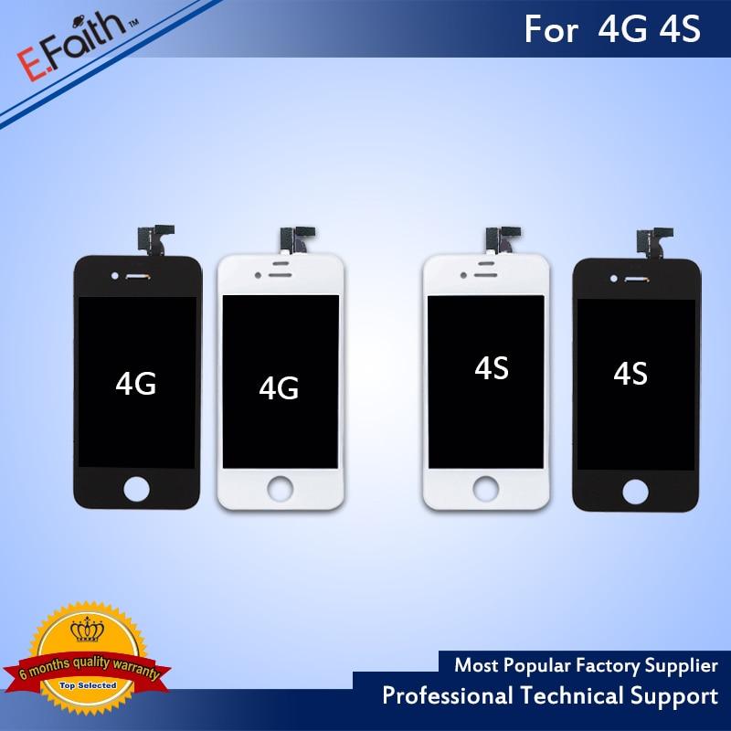 imágenes para 20 UNIDS de Reemplazo Para el iphone 4/4S LCD Pantalla Digitalizador LCD Montaje de la Pantalla Táctil No Dead Pixel Envío Libre