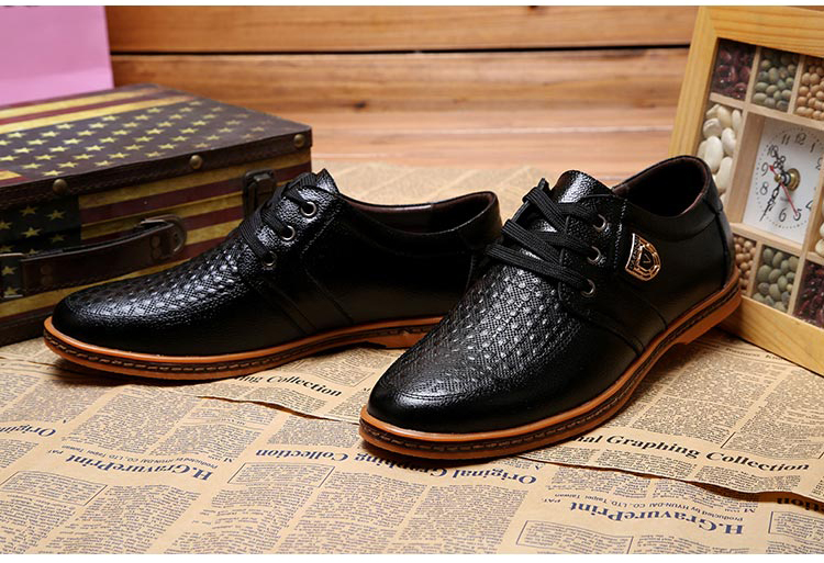 HTB1YCOPXzgy uJjSZR0q6yK5pXa3 2019 Men Leather Casual Shoes Men's Lace Up Footwear Business Adult Moccasins Male Shoes Chaussure Home