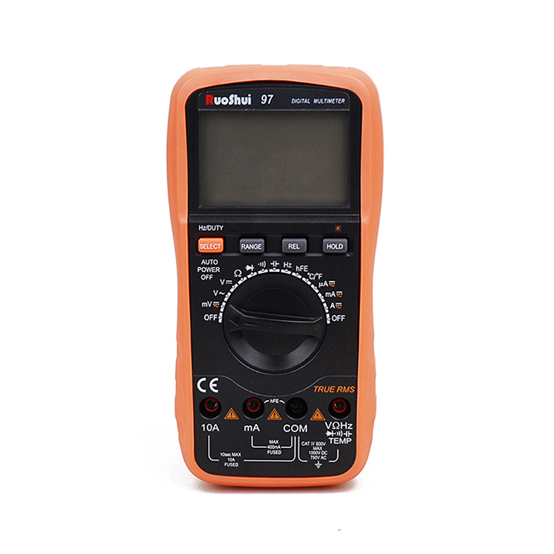RuoShui 97/ VC97 Multimeter 3999 Counts Auto Range True RMS Digital Multimeter DMM with DC AC Voltage Current Meter LCD Display uni t ut61a b c d e counts digital multimeter with auto range dc ac voltage current ohm capacitance diode true rms