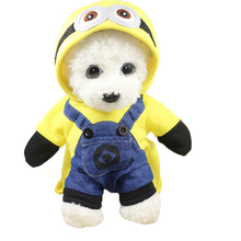 100%Cotton Small Dog Clothes Minions Cartoon Cute Pet Novelty Costume Puppy Hoodie Clothes For Dogs Cats Autumn Winter Warm Coat