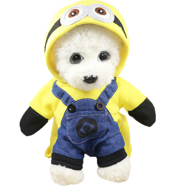 Small Dog Cat Clothes Minions Cartoon Cute Hoodie Pet Novelty Costume Puppy Clothes for Dogs Cats  sc 1 st  AliExpress.com & Small Dog Cat Clothes Minions Cartoon Cute Hoodie Pet Novelty ...