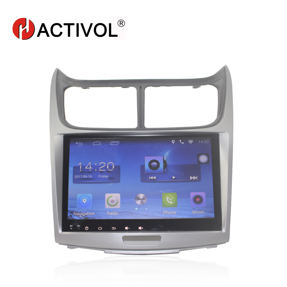 HACTIVOL 9 Quad core car radio gps navigation for Chevrolet Sail 2010 android 7.0 car DVD video player with 1G RAM 16G ROM