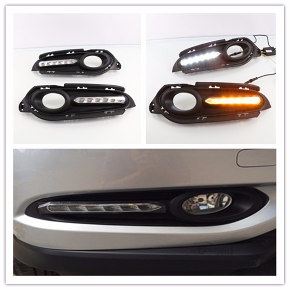 For Honda HRV HR-V Vezel LED DRL Car Accessories LED Daytime Running Lights High Power Daylight 2014 2015 2016 LED DRL eemrke car led drl for honda odyssey jdm 2014 2015 2016 high power xenon white fog cover daytime running lights kits