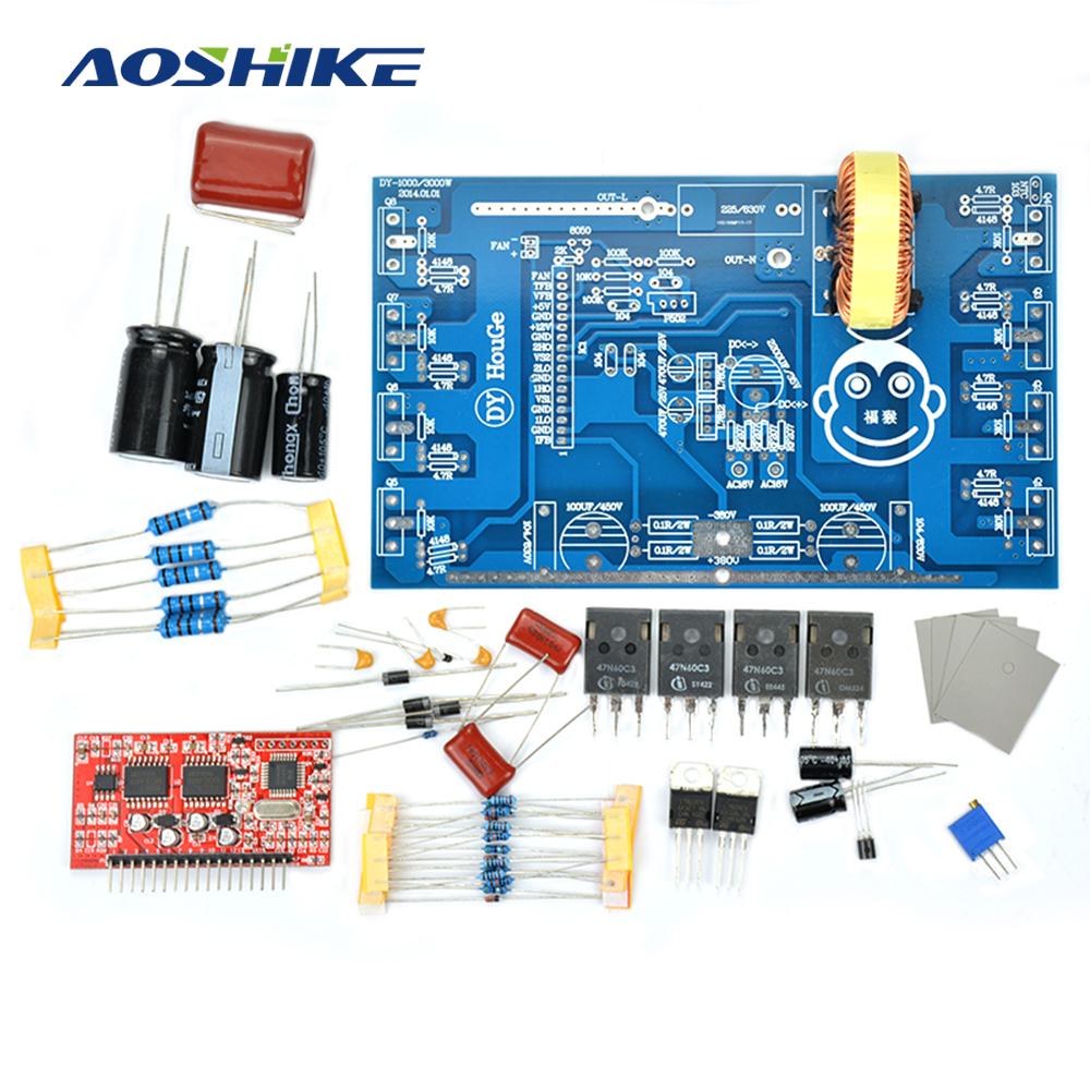 a4415cc6e9b9 1 Set 2000W Pure Sine Wave Inverter Power Board Post Sine Wave Amplifier  Board DIY Kits