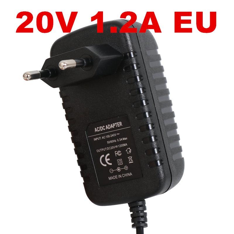 1PCS New 20v1.2a power supply LED lamp power supply 20 v power supply 20v 1.2A 1200mA power adapter EU UK AU US plug