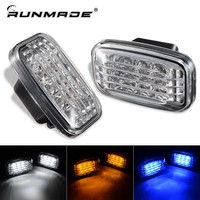 1Pair For Toyota Land Cruiser J70 80 100 Series Side Marker Signal Clear Lamp White Amber