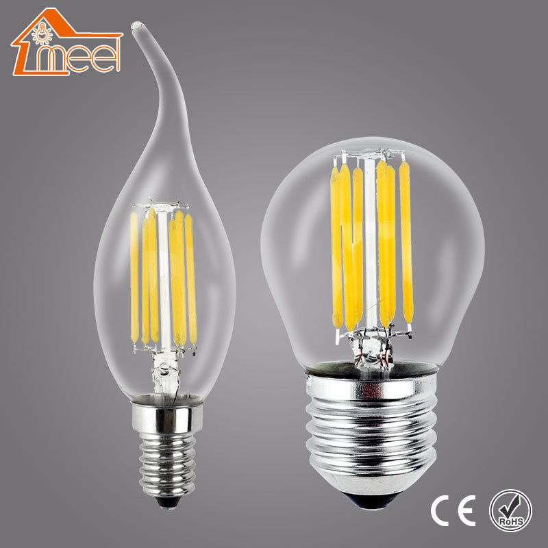 LED Candle Light E14 Filament Light Glass Lamp Bulb E27 220V 240V 2W 4W 8W Antique Retro Vintage Edison Led Bulb retro lamp st64 vintage led edison e27 led bulb lamp 110 v 220 v 4 w filament glass lamp