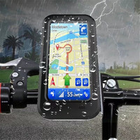 IPX8 Waterproof Case Bicycle Motorcycle GPS Navigation Back Cover For iPhone X 8 8Plus 7 7Plus Mobile Phone Stand Capa Fundas