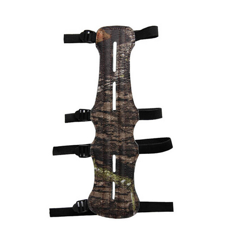 Camo 4 Strap amouflage cloth Leather Shooting Archery Arm Guard Protection Safe Guard