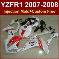 Motorcycle black scorpion fairings set for YAMAHA YZFR1 2007 2008 YZF R1 YZF1000 YZF 1000 07 08 Injection fairing kit R1 YY6T