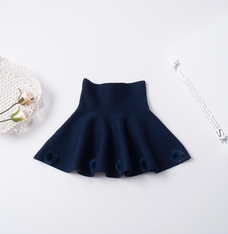 Girls Crochet Knit Skirts Baby Girl Fashion Ball Skirt Kids Girl