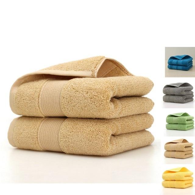 100% turc coton petite serviette ensemble Super doux famille invité hôtel serviette couleur unie absorbant 75*35 cm 170G