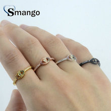 5Pieces,Women Fashion Jewelry,The Rainbow Series Eyes Shape Rings,4Colors,Can Wholesale цена