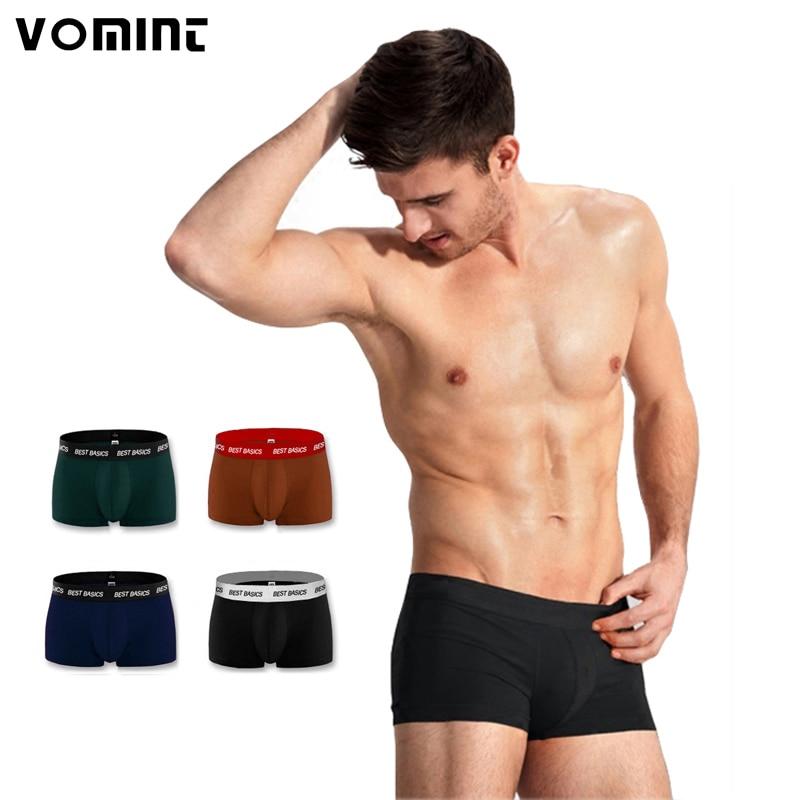 Vomint 2020 Mens Cotton Underwear Solid Color Boxer Shorts 100% Cotton Plus Size:2XL-6XL NY01
