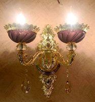 Светодио дный светодиодные фиолетовые хрустальные настенные лампы для гостиной салон современные золотые настенные свечи свет бра Рестор