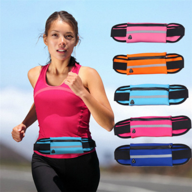 Doreen Box Multicolor Waterproof Storage Bags for Phone Earphone Wire Outdoor Sports Running Waist Bag Pocket 70cm Long 1PC