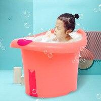 Baby Toddlers Kids Bath Tub Water To Chest Bubble Bathtub Baby Bath Tub Child Portable Plastic 0~6 years Bathtub Waterproof